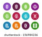 fingerprint circle icons on...