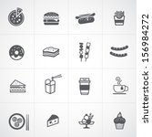 fast food icon set | Shutterstock .eps vector #156984272