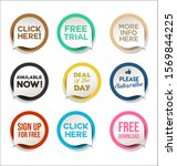 collection of colorful promo... | Shutterstock . vector #1569844225