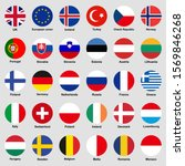 europe countries flags icon set.... | Shutterstock .eps vector #1569846268