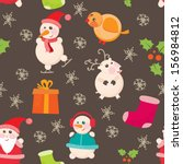 seamless background  christmas... | Shutterstock . vector #156984812