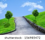 Walking Path On A Small Slope...