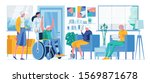 happy old disabled man  old...   Shutterstock .eps vector #1569871678