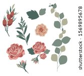illustration of roses and rose... | Shutterstock . vector #1569895678