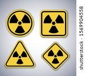 radiation warning symbols set.... | Shutterstock .eps vector #1569904558