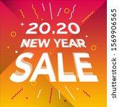 new year sale web banner vector ...   Shutterstock .eps vector #1569906565