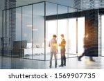 blurry business people... | Shutterstock . vector #1569907735