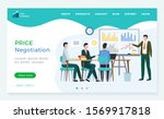 price negotiation business with ... | Shutterstock .eps vector #1569917818