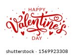 happy valentines day greeting... | Shutterstock .eps vector #1569923308