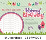 happy birthday invitation card... | Shutterstock .eps vector #156994076