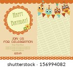 happy birthday invitation card... | Shutterstock .eps vector #156994082