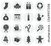 christmas related icons set on... | Shutterstock .eps vector #1569957358
