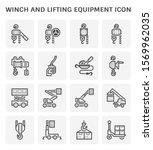 Lifting Equipment Vector Icon I....