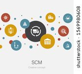 scm trendy circle template with ...