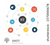 swot colored circle concept...
