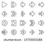 Arrows Icon Design Vector Thin...