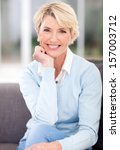 beautiful middle aged woman... | Shutterstock . vector #157003712