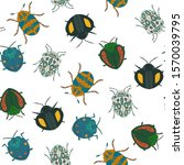 seamless vector pattern with... | Shutterstock .eps vector #1570039795