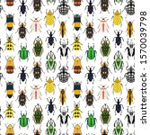 seamless vector pattern with... | Shutterstock .eps vector #1570039798