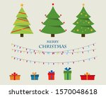 collection of christmas trees... | Shutterstock .eps vector #1570048618