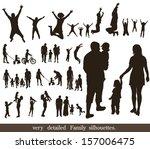 set  of very detailed family... | Shutterstock .eps vector #157006475