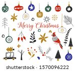 christmas collection with... | Shutterstock .eps vector #1570096222