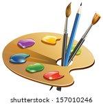 paint brush   illustration   Shutterstock .eps vector #157010246