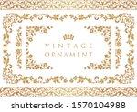 vintage ornament. decorative... | Shutterstock .eps vector #1570104988