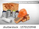 banner building materials.... | Shutterstock .eps vector #1570153948
