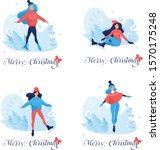 set of merry christmas postcard ... | Shutterstock .eps vector #1570175248