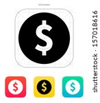 coin with dollar sign icon....