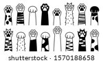 cat paw. dog paw. cat breed... | Shutterstock .eps vector #1570188658