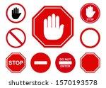 traffic stop icon design. set...   Shutterstock .eps vector #1570193578