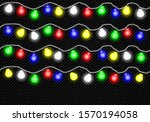 colorful christmas garland... | Shutterstock .eps vector #1570194058