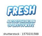 italic fresh font design.... | Shutterstock .eps vector #1570231588