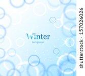 abstract light winter background | Shutterstock .eps vector #157026026