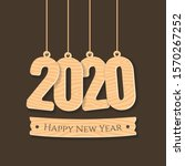 new year 2020 greeting... | Shutterstock .eps vector #1570267252