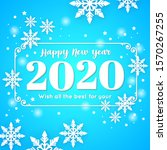 new year 2020 greeting... | Shutterstock .eps vector #1570267255