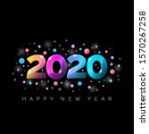 new year 2020 greeting... | Shutterstock .eps vector #1570267258