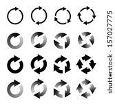 rotating arrows set. refresh ... | Shutterstock . vector #157027775