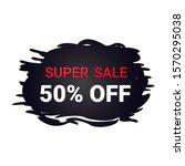 black friday sticker discount... | Shutterstock .eps vector #1570295038