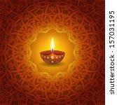 decorative diwali lamp design   Shutterstock .eps vector #157031195