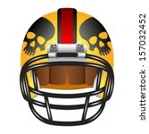 football helmet with skull