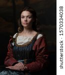 Portrait Of A Young Woman In...