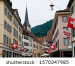 Historical downtown of Chur, Grisons, Switzerland
