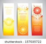 citrus in juicy splashes set of ... | Shutterstock .eps vector #157035722