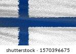 national flag of finland. 3d... | Shutterstock . vector #1570396675