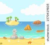 seamless cartoon beach...