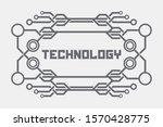 technology logo background....