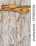 kitchen utensils on the old... | Shutterstock . vector #157045226